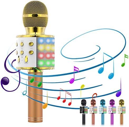 Karaoke Microphone 5 in 1 Microphone for Kids Portable Handheld Bluetooth Microphone Microphone product image