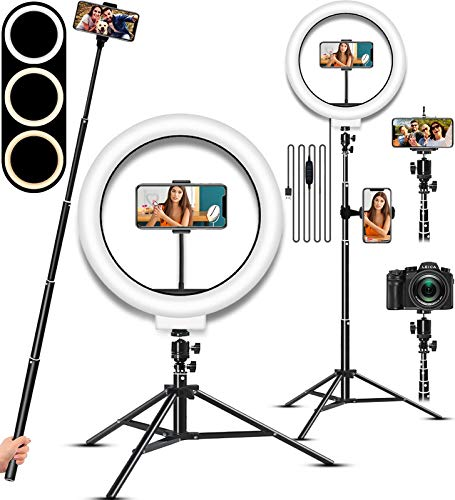 Selfie Ring Light, LED Light Ring with Stand, Circle Light for...