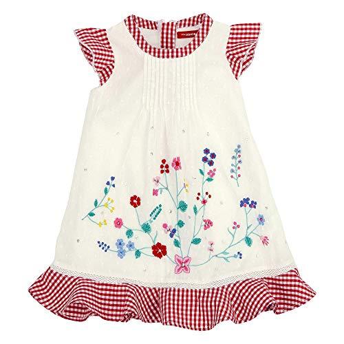 BONDI Trachtenkleid ´Blumenranke´, Weiss 104 Tracht Baby Mädchen Artikel-Nr.86109