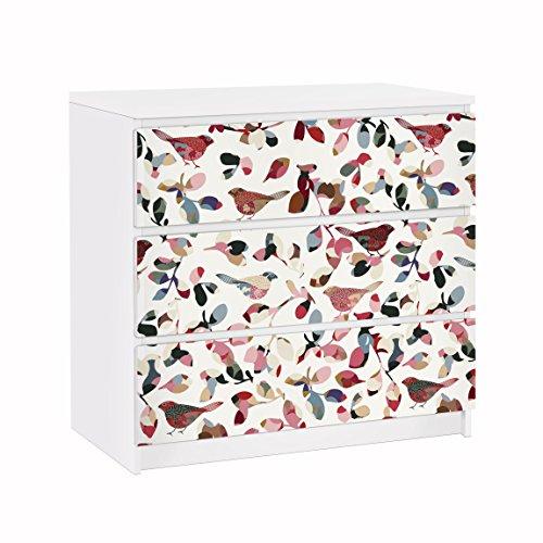 Apalis Vinilo Adhesivo para Muebles IKEA - Malm Dresser 3xDrawers - Look Closer, Größe:3 Mal 20cm x 80cm