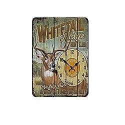Creative Animal Clock Aluminum Sign Vintage Metal Pub Club Cafe bar Home Wall Art Decoration Poster Retro 8x12 inches