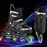Hesyovy Leucht PU Räder Inline-Skates, Rollerblades für Kinder,...