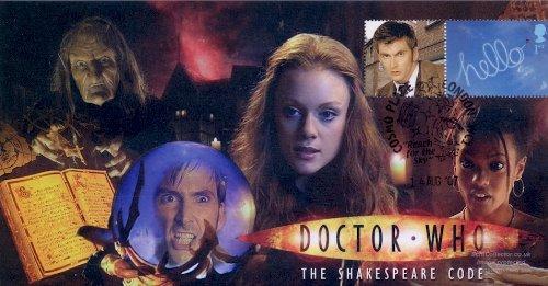 Funda para Sello de Doctor Who con Texto en inglés Shakespeare Code firmada por Christina Cole