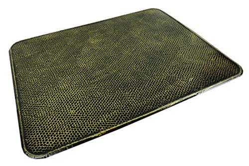 Novatool Ofenbodenblech I 600 x 800 I altmessing gehämmert I Funkenschutzplatte Kaminblech Ofenschutzblech Wärmeschutzplatte