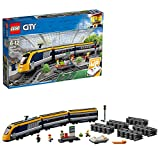 lego city passenger train building kit (677 piece), multicolor