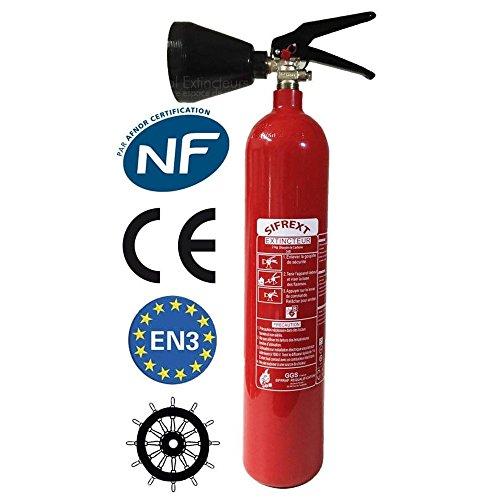 CO2 capacidad extintor 2 Kg NC con soporte de montaje