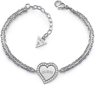guess pulsera plata con corazon