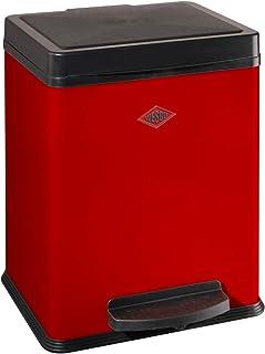 Balvi Cestino Carta Pantone Colore Rosso Scomparto di Riciclaggio per LUfficio e la casa Prodotti di cancelleria di Design Moderno e Minimalista Latta 26x22x17,7 cm