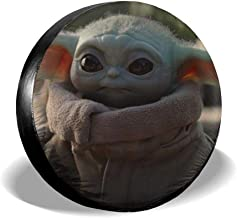 SUV Truck and Many Vehicle Camper Accessories Sdagffde Little Yoda Spare Tire Cover Waterproof Dust-Proof Universal Spare Wheel Tire Cover Fit for Jeep,Trailer RV
