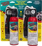 Counter Assault - EPA Certified, Maximum Strength & Distance Bear Repellent Spray - Hottest Formula Allowed by Law - Night Glow Locator & Tactical Belt Holster Included (10.2 & 8.1 oz)