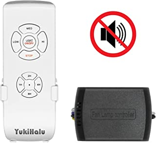 YUKIHALU Small Size Beep Off Option Universal Ceiling Fan Remote Control kit with Light and Timing, Wireless Remote Control and Receiver for Hunter Harbor Breeze Westinghouse Honeywell or Other