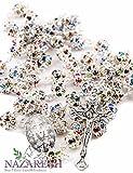 Holy Land Gifts Católica Rosario con Perlas de Colorful Zircon Cristales Hecho a Mano Collar Milagrosa & Crucifijo Jerusalén