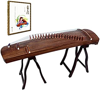 OrientalMusicSanctuary Professional ALL-Paulownia Travel Guzheng - Tang Dynasty Design - Travel Sized Guzheng - Comes with COMPREHENSIVE TUTORIAL BOOK w/ Etudes