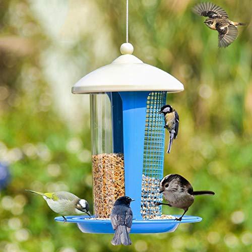 MSchunou Mangeoire pour Oiseaux, appliquer Tous Les Oiseaux Sauvages - Protéger la Nature (Couleur : Bleu)