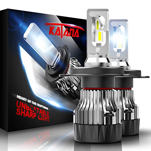 KATANA H4 LED Headlight Bulbs w/Mini Design,10000LM 6500K Cool White CREE Chips 9003 All-in-One Conversion Kit