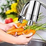 WaterQueen Filtre à Eau sur Robinet, Système de Filtration D'eau de Robinet Durable pour la Cuisine, Installation Facile - S'adapte sur Tous Les Robinets Standards
