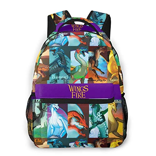 IUBBKI 3D Print Wings of Fire Book Cover Collage Casual Backpack,Multifunctional Schoolbag Knapsack Rucksack