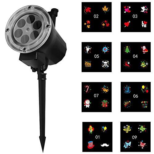 Funnyfeng LED-kaart, folie voor buiten, 12 stuks verlichting voor buiten, geschikt voor de decoratie van huis en buitenverlichting voor Kerstmis