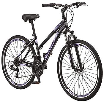 Schwinn GTX 1.0 Comfort Adult Hybrid Bike Dual Sport Bicycle 20-Inch Aluminum Frame Black