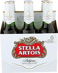 Stella Artois Lager, 6 Pack Beer - 11.2 FL OZ Bottles