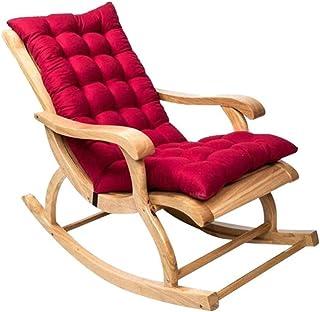Tumbona Cojines asiento trasero del cojín del amortiguador antideslizante de la mecedora Amortiguadores de la almohadilla suave del jardín del patio al aire libre cojines de ratón plegable Mat 120x50C