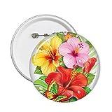 DIYthinker Bouquet de fleurs papillon meilleur souhait Bouton de laquage Ronde Badge...