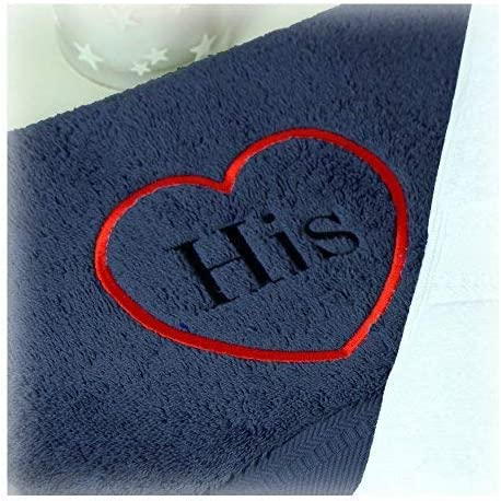 aztex TowelsRus His /& Hers Heart Bath Towels Black and White