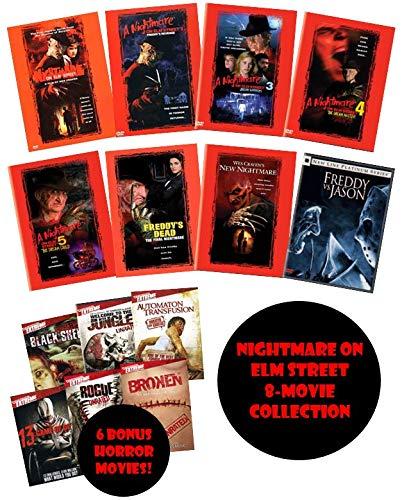 Nightmare on Elm Street 8-Movie DVD Collection: Nightmare on Elm Street Freddy's Revenge Dream Warriors Dream Master Dream Child Final Nightmare New Nightmare Freddy vs. Jason (1, 2, 3, 4, 5, 6, 7, 8)