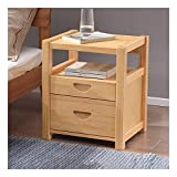 ZYLEDW Bedside Table, Bedside Tables Set of 1Pcs, Wooden End Table with 1 Storage Drawers, Nightstands Side Table for Bedroom Living Room, 36.5X40X57Cm