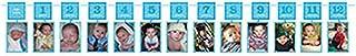 amscan 10022727 1st Birthday Boy Photo Garland, Blue, 12'