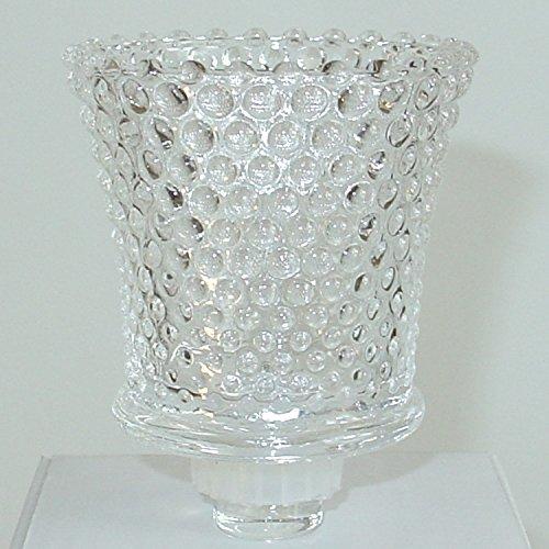 Dekowelten 1x Glasaufsatz für Kerzenleuchter Kerzenständer Teelichtaufsatz Teelichthalter aus Glas Perle Punkt Struktur
