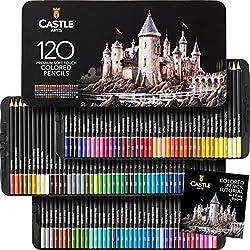 in budget affordable Castle Art Supply 120 Color Pen Set for Adult Artist Professionals   Software…