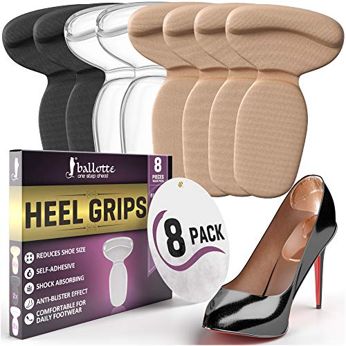 Reusable Heel Cushion Inserts, [Extra Soft] and Sticky...