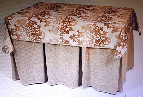 enagua y tapete para mesa camilla rectángula: 130 x 80 cm