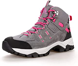 Women High Ankle Walking Boots-Breathable Outdoor Hiking Climbing Backpacking Waterproof Trekking Sneaker