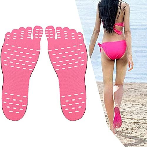 HUANYINGNI Almohadilla Antideslizante para Zapatos De Playa,Zapatos Invisibles Que Se Adhieren A Las Suelas del Pie Antideslizantes De Silicona para Los Pies 3pcs L Rosa