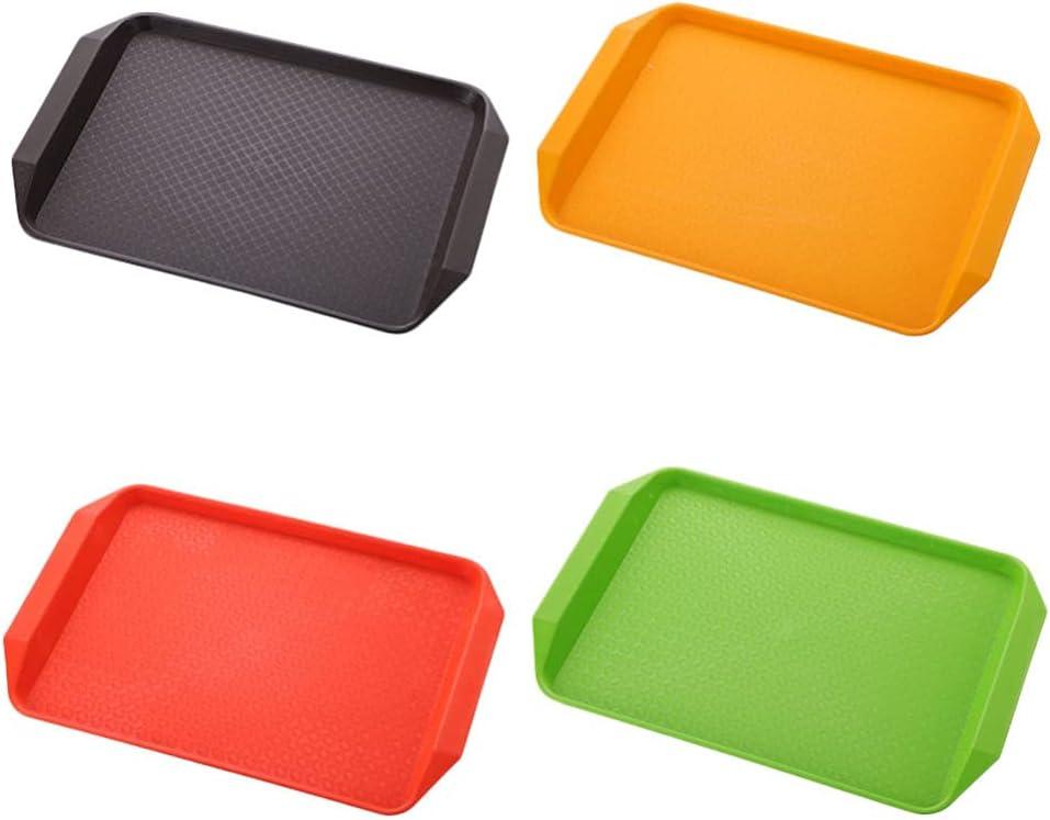 Tampa Mall Popular product HEMOTON 4pcs Plastic Trays Heavy Duty Serving Tray Servi