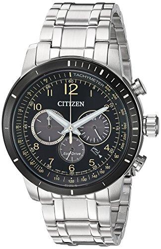 Citizen Men's 'Chronograph' Quartz Stainless Steel Casual Watch, Color:Silver-Toned (Model: CA4358-58E)