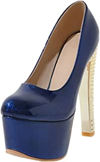 SJJH High Heels with Thick Platform Court Shoes for Women