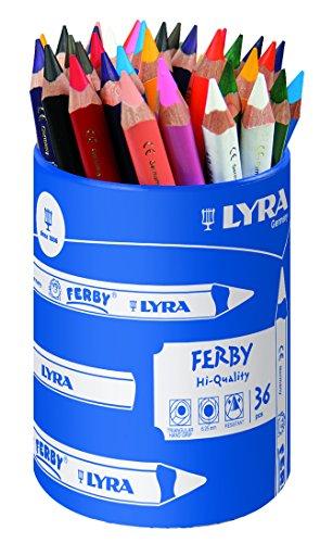 LYRA Ferby Runddose mit 36 Farbstiften, Sortiert