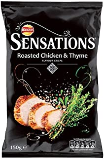 Crisps Sensations Roasted Chicken & Thyme 6X150G