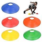 TRIXES 20 Articles Lot de Cônes Marquage Multicolores Légers Souples Football Sports Entraînement