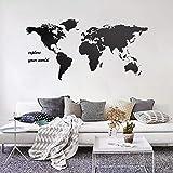 fancjj Explane Your World Quotes Map Pegatinas de Pared de Gran tamaño para Sala de Estar Dormitorio Vinilo Home Art Wallpaper Poster Decals