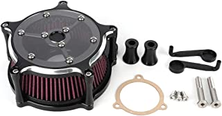 Terisass Air Filter CNC Aluminium Motorcycle Air Filter Cleaner Motorbike Modified Intake Air Filter Induction Kit Replacement for 1200 883 1991-2015