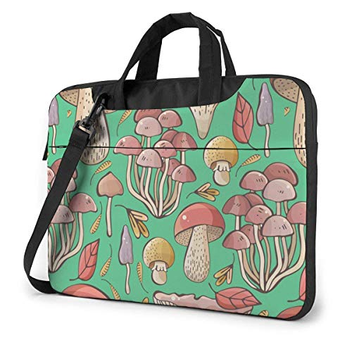 Adults Student Laptop Bag Protective Notebook Computer Protective Cover Handbag Abstract Colorful Forest Mushrooms