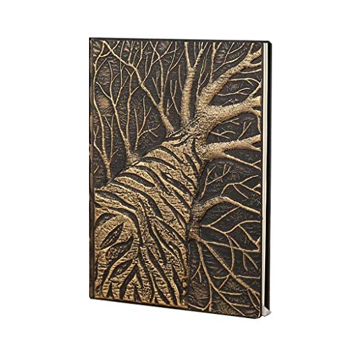 Cuaderno de diario de papel de calidad de tapa dura para regalos, cuaderno de trabajo de viajeros, cuaderno de 8.5 x 5.7 pulgadas (color dorado)