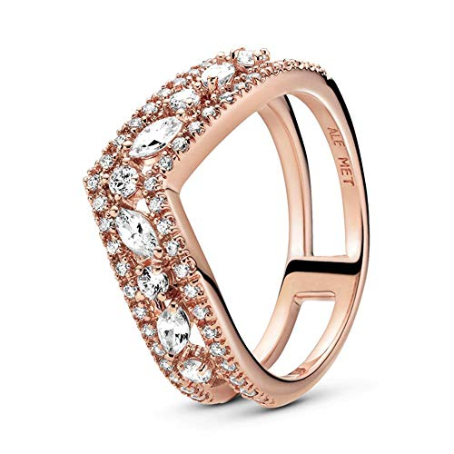 Pandora Ring Wishbone Rose mit Zirkonia Größe: 48