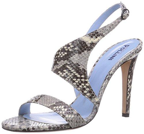 Pollini Damen W.Sandal Offene Sandalen mit Keilabsatz, Grau (Grey Python 954), 40
