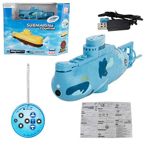 Stecto Submarino teledirigido,Mini Submarino RC de Alta Velocidad de 6 Canales [120 mAh] Barco Submarino de Carreras con Control de Radio a Prueba de Agua