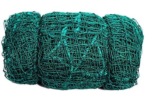 Easyshoppingbazaar Anti Bird Net/Garden net/Pigeon net Color Green 6x10 Foot (60 sq.ft,25 mm Hole) with Required Installation Clips(Nylon)